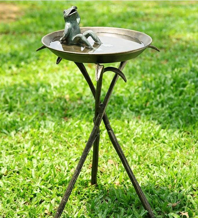 Birdbath - Cool Bathing Frog